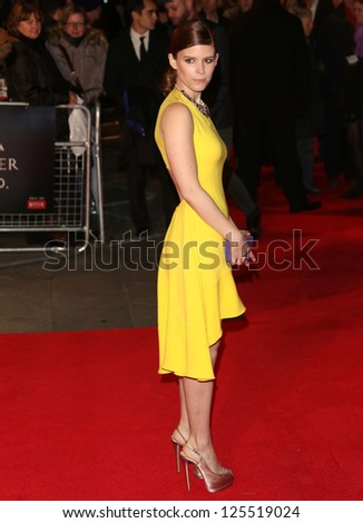 Kate Mara at The House of Cards TV premiere held at Odeon, London, England. 17/01/2013 Picture by: Henry Harris