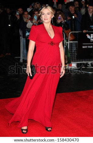Kate Winslet arriving for the Labor Day Premiere, at the BFI London Film Festival, Odeon Leicester Square, London. 14/10/2013 - stock photo
