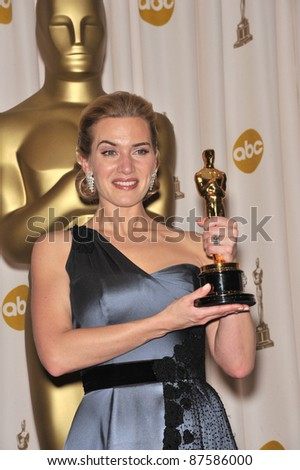 Kate Winslet at the 81st Academy Awards at the Kodak Theatre, Hollywood. February 22, 2009  Los Angeles, CA Picture: Paul Smith / Featureflash - stock photo