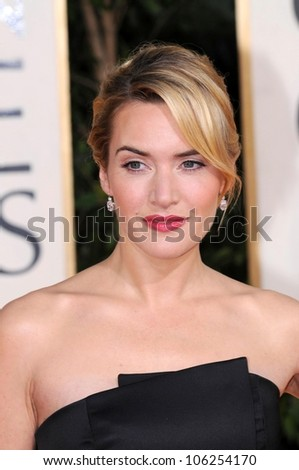 Kate Winslet at the 66th Annual Golden Globe Awards. Beverly Hilton Hotel, Beverly Hills, CA. 01-11-09 - stock photo