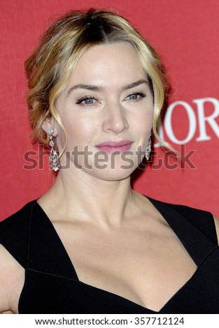 Kate Winslet at the 27th Annual Palm Springs International Film Festival Awards Gala held at the Palm Springs Convention Center in Palm Springs, USA on January 2, 2016. - stock photo