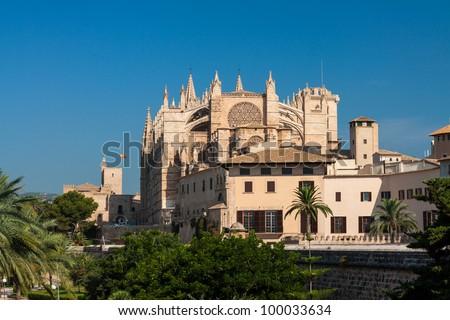 Kathedrale La Seu Palma de Mallorca - stock photo