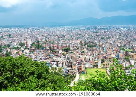 Kathmandu cityscape, the capital of Nepal. - stock photo