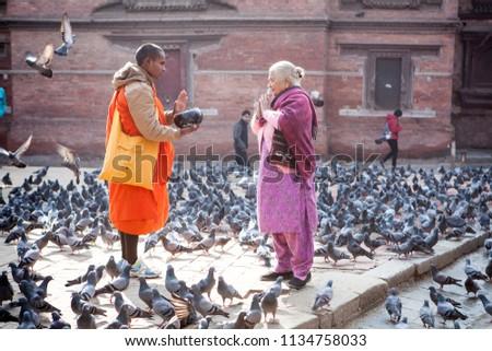 stock-photo-kathmandu-nepal-buddhist-mon