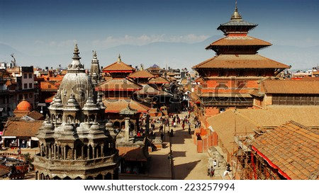 Kathmandu's Durbar Square, Nepal - stock photo