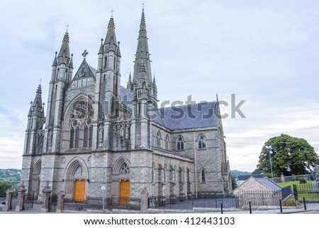 Katholic Cathedral in Ireland at afternoon
