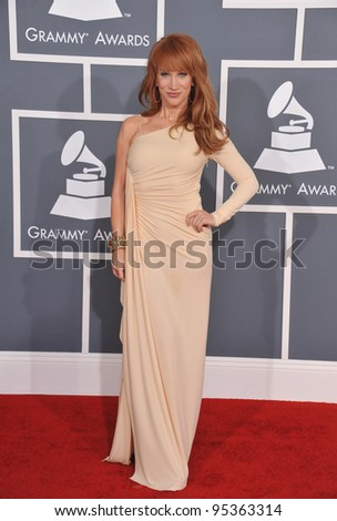 Kathy Griffin at the 54th Annual Grammy Awards at the Staples Centre, Los Angeles. February 12, 2012  Los Angeles, CA Picture: Paul Smith / Featureflash