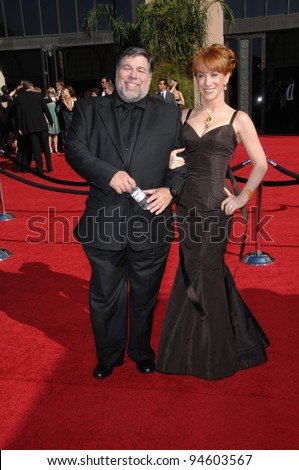Kathy Griffin & Steve Wozniak at the 59th Primetime Emmy Awards at the Shrine Auditorium. September 16, 2007 Los Angeles, CA Picture: Paul Smith / Featureflash