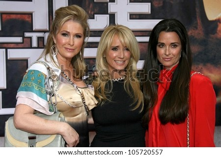 Kathy Hilton with Kim Richards and Kyle Richards at the Los Angeles Premiere of 'Race To Witch Mountain'. El Capitan Theatre, Hollywood, CA. 03-11-09