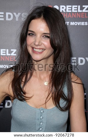 """Katie Holmes at the """"Kennedys"""" World Premiere, Academy of Motion Picture Arts and Sciences, Bevrly Hills, CA. 03-28-11 - stock photo"""