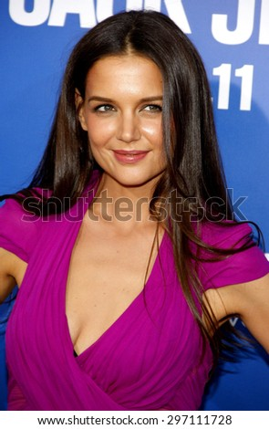 Katie Holmes at the Los Angeles premiere of 'Jack And Jill' held at the Regency Village Theatre in Westwood on November 6, 2011.
