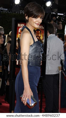 Katie Holmes at the Los Angeles premiere of 'Tropic Thunder' held at the Mann Village Theater in Westwood, USA on August 11, 2008.