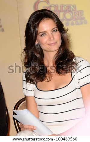 Katie Holmes at the 68th Annual Golden Globe Awards Nominations Announcement, Beverly Hilton Hotel, Beverly Hills, CA. 12-14-10