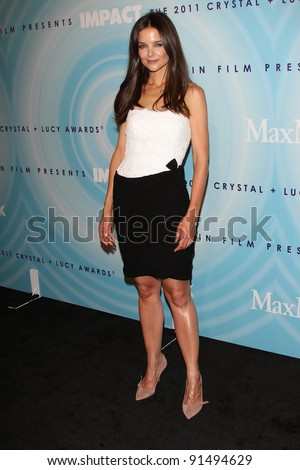Katie Holmes at the Women In Film's 2011 Crystal + Lucy Awards, Beverly Hilton hotel, Beverly Hills, CA. 06-16-11 - stock photo
