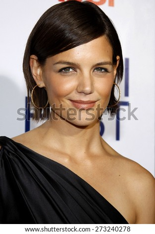 """Katie Holmes attends the AFI Fest Opening Night Gala Premiere of """"Lions for Lambs"""" held at the ArcLight Theater in Hollywood, California, United States on November 1, 2007.  - stock photo"""