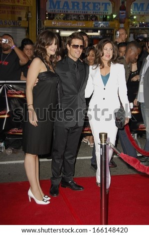 Katie Holmes, Tom Cruise, Paula Wagner at Mission Impossible III screening for Tom Cruise Fan Club, Grauman's Chinese Theatre, Los Angeles, CA, May 04, 2006 - stock photo