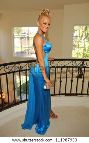 Katie Lohmann prepares to attend the 2007 Academy Awards Parties, Private Location, Beverly Hills, CA 02-25-07