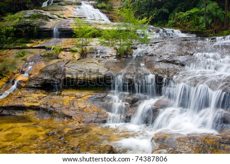 Katoomba Falls, Blue Mountains National Park, New South Wales, Australia - stock photo