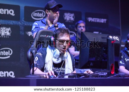 KATOWICE, POLAND - JANUARY 19: Carlos ocelote Rodr�­guez Santiago from SK Gaming at Intel Extreme Masters 2013 - Electronic Sports World Cup on January 19, 2013 in Katowice, Silesia, Poland.