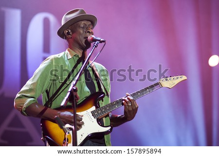KATOWICE, POLAND - OCTOBER 5: Keb' Mo' Band at Rawa Blues Festival - The biggest in-door blues festival in the world on October 5, 2012 in Katowice, Silesia, Poland. - stock photo