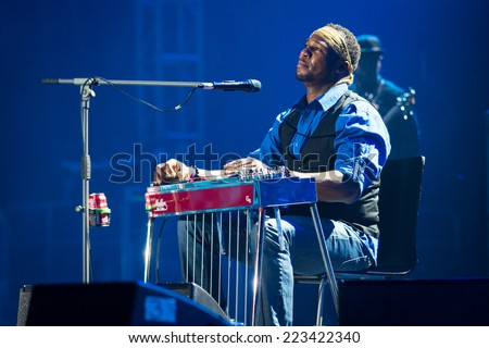 KATOWICE, POLAND - OCTOBER 11: Robert Randolph & The Family Band at Rawa Blues Festival - The world's biggest indoor blues festival on October 11th, 2014 in Katowice, Silesia, Poland.