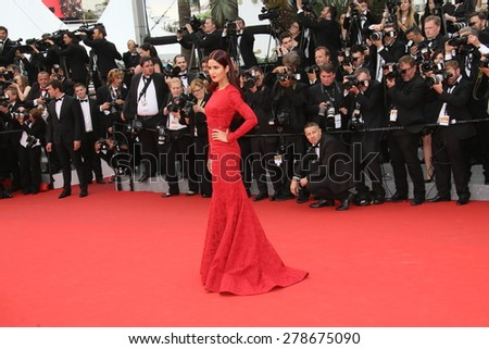 Katrina Kaif attends the 'Mad Max : Fury Road' Premiere during the 68th annual Cannes Film Festival on May 14, 2015 in Cannes, France. - stock photo