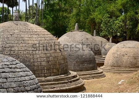 Katurogoda Ancient Vihara, Jaffna district, Sri Lanka: a mysterious ancient buddhist site in the middle of the hindu - tamil region - stock photo