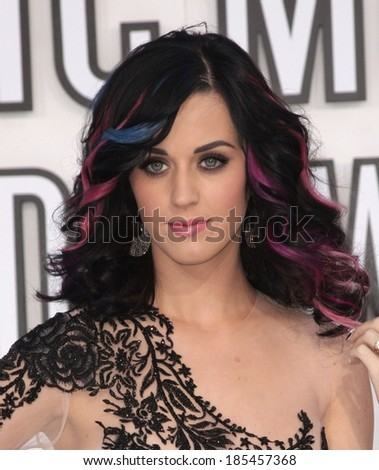 Katy Perry at 2010 MTV Video Music Awards VMA's - ARRIVALS - NO US PRINT USAGE UNTIL 9/16/2010, Nokia Theatre LA LIVE, Los Angeles, CA September 12, 2010