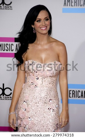 Katy Perry at the 2010 American Music Awards held at the Nokia Theatre L.A. Live in Los Angeles on November 21, 2010.  - stock photo