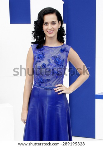 "Katy Perry at the Los Angeles premiere of ""Smurfs"" held at the Regency Village Theater in Westwood on July 28, 2013 in Los Angeles, California.  - stock photo"