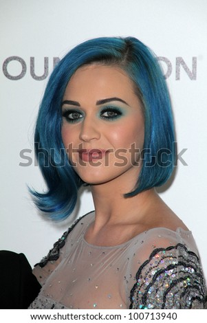 Katy Perry at the 20th Annual Elton John AIDS Foundation Academy Awards Viewing Party, West Hollywood Park, West Hollywood, CA 02-26-12 - stock photo