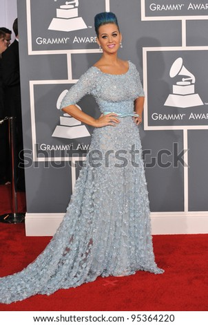 Katy Perry at the 54th Annual Grammy Awards at the Staples Centre, Los Angeles. February 12, 2012  Los Angeles, CA Picture: Paul Smith / Featureflash