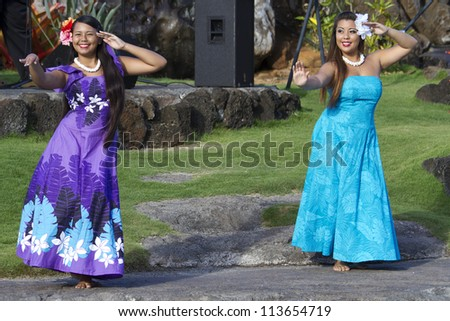 Traditional hawaiian luau dress pictures