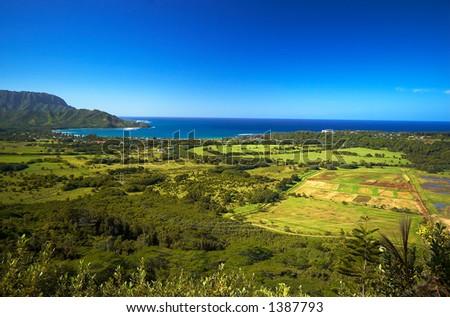 Kauai Hawaii overview More with keyword Series001. - stock photo