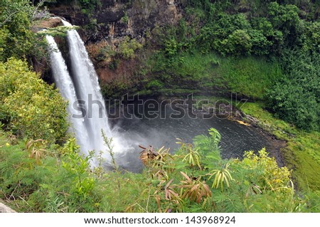 Kauai Wailua Falls - stock photo