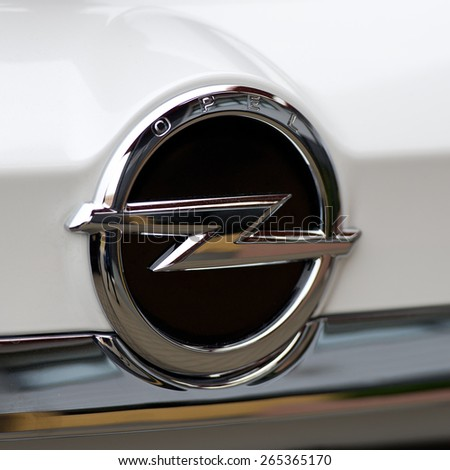 KAUNAS - MAR 26: Opel logo on Mar. 26, 2015 in Kaunas, Lithuania. Opel AG is a German automobile manufacturer headquartered in Hesse, Germany and a subsidiary of the American General Motors Company. - stock photo