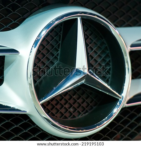 Mercedes benz truck stock images royalty free images for Mercedes benz sign in