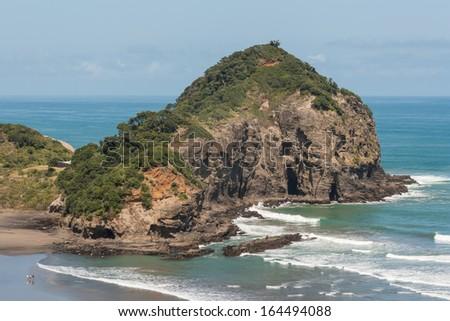 Kauwahaia Island, New Zealand - stock photo