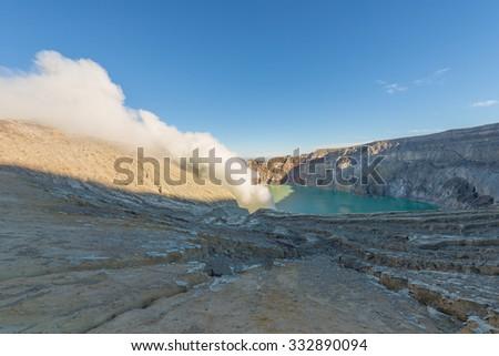 Kawah Ijen Crater, INDONESIA. - stock photo