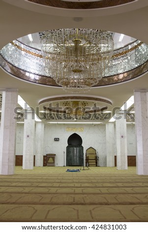 Kawloon, Hong Kong - April 29, 2016: Kowloon Masjid and Islamic Centre or Kowloon Mosque and Islamic Centre is second among five principal mosques constructed in Hong Kong,