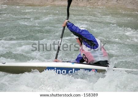 Kayak action - stock photo
