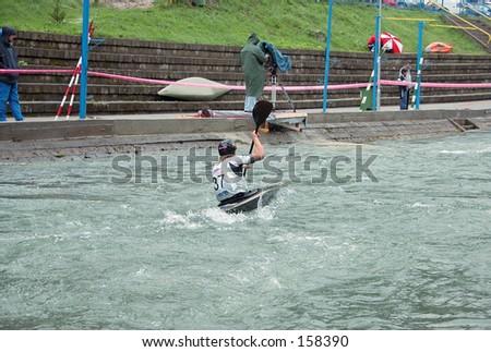 Kayak competition - stock photo