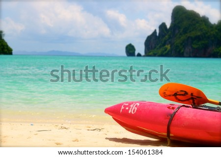 Kayak, Ko phi phi in Thailand - stock photo