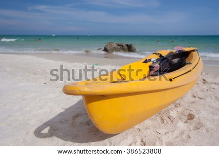 kayak on the beach at samed island