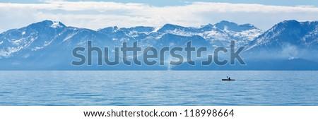 kayaker - stock photo