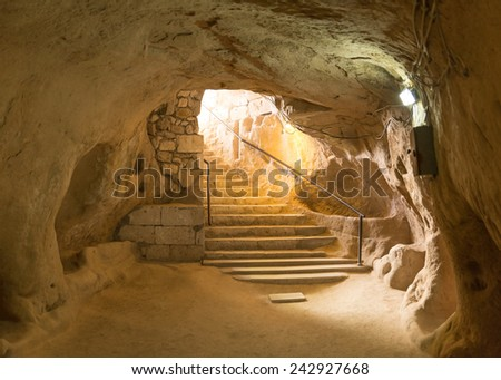 Kaymakli Underground City, Nevsehir, Turkey  - stock photo