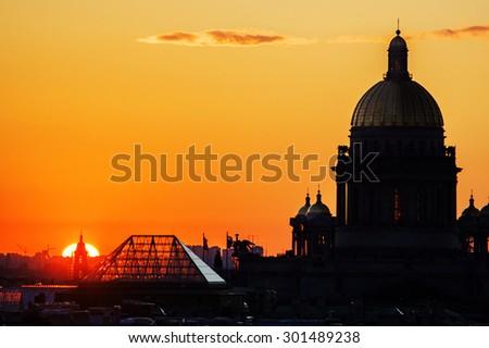 Kazan Cathedral. St.Petersburg. Russia - stock photo