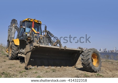 KAZAN - MAY 02: Broken tractor in Kazan city on May 02. 2016 in Russia