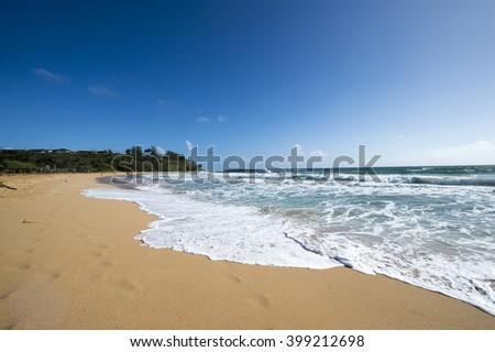 Kealia Beach, Kauai, Hawaii-3 - stock photo
