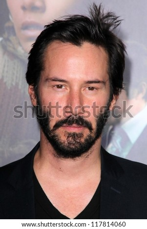 """Keanu Reeves at the """"Cloud Atlas"""" Los Angeles Premiere, Chinese Theater, Hollywood, CA 10-24-12 - stock photo"""